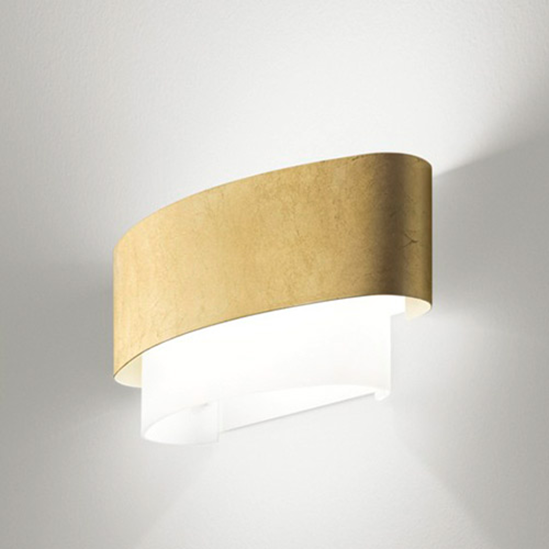 In bladgoud-optiek - wandlamp Matrioska