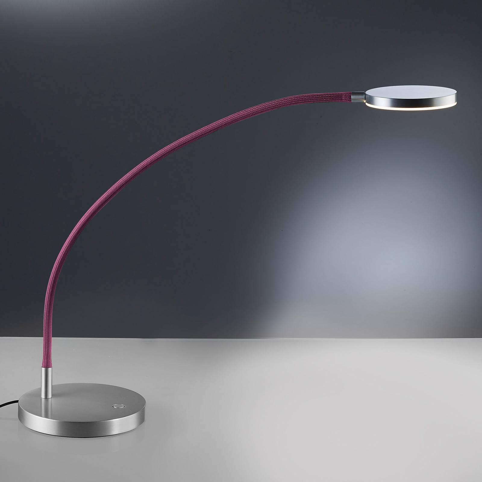 Holtkötter Flex T lampe à poser LED alu mat/rouge