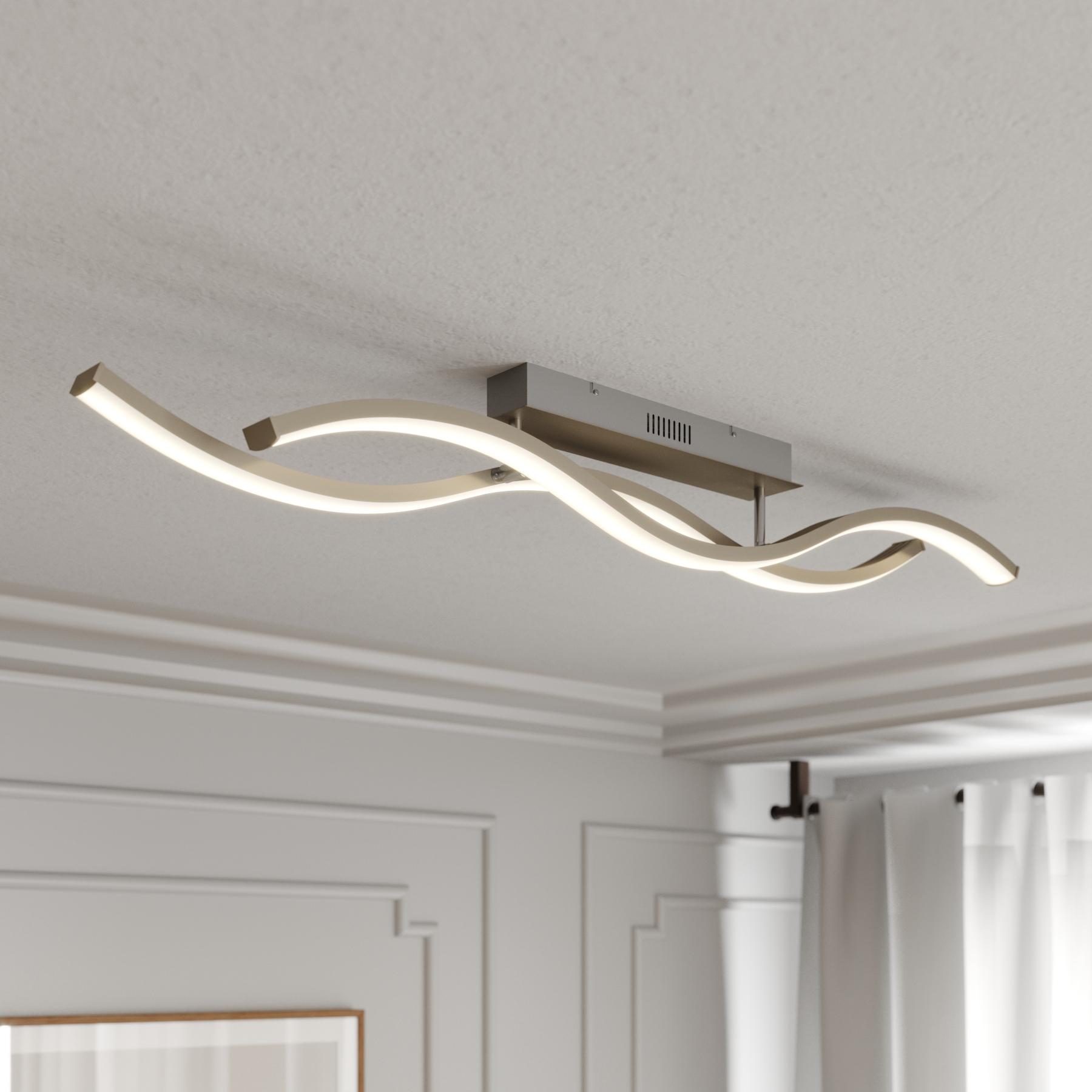 Lucande Mairia lampa sufitowa LED, falista