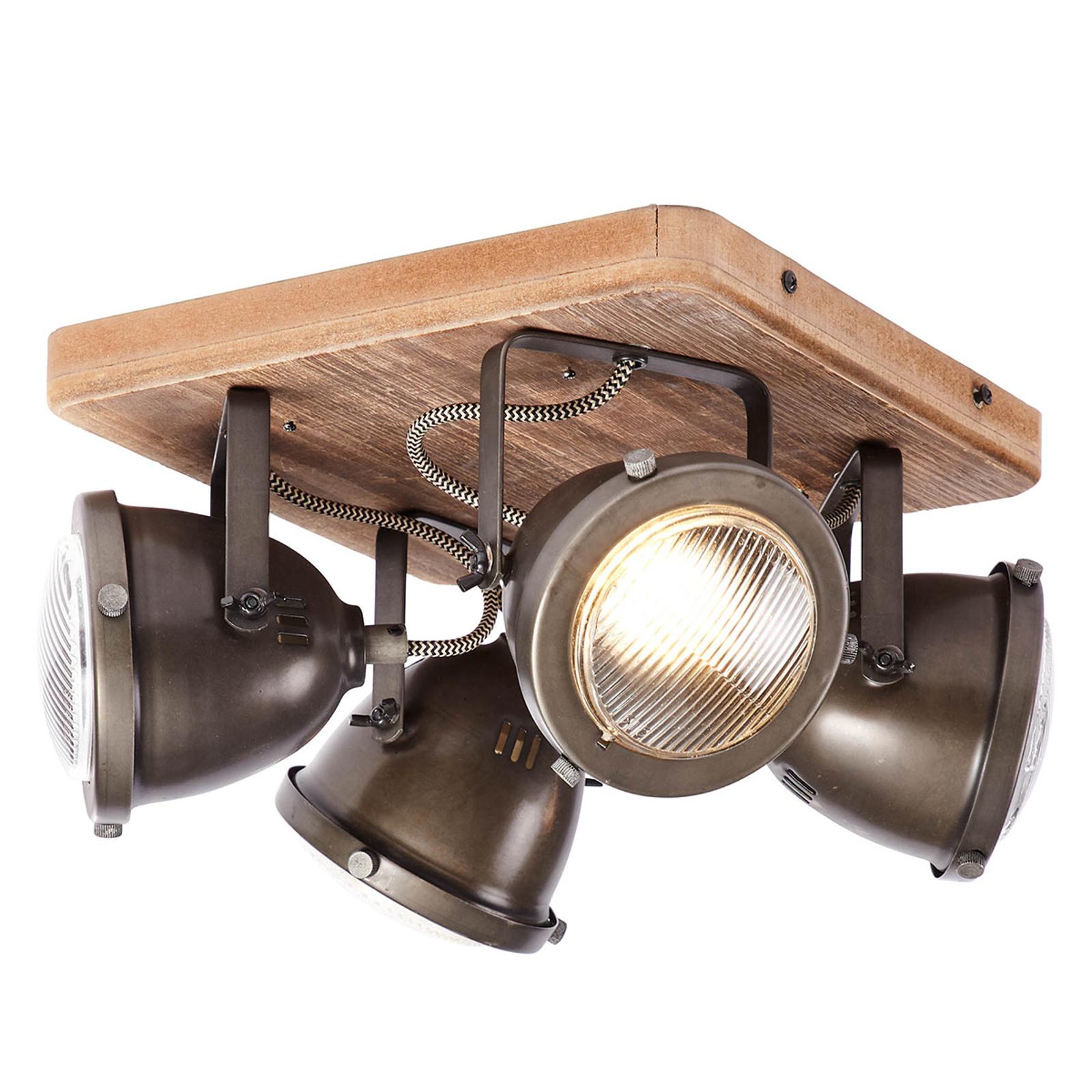 Vierflammige Deckenlampe Carmen Wood