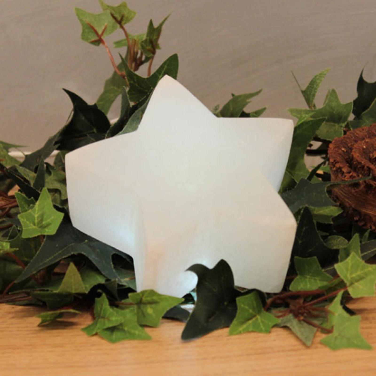 Gwiazda LED White Line z kryształu soli