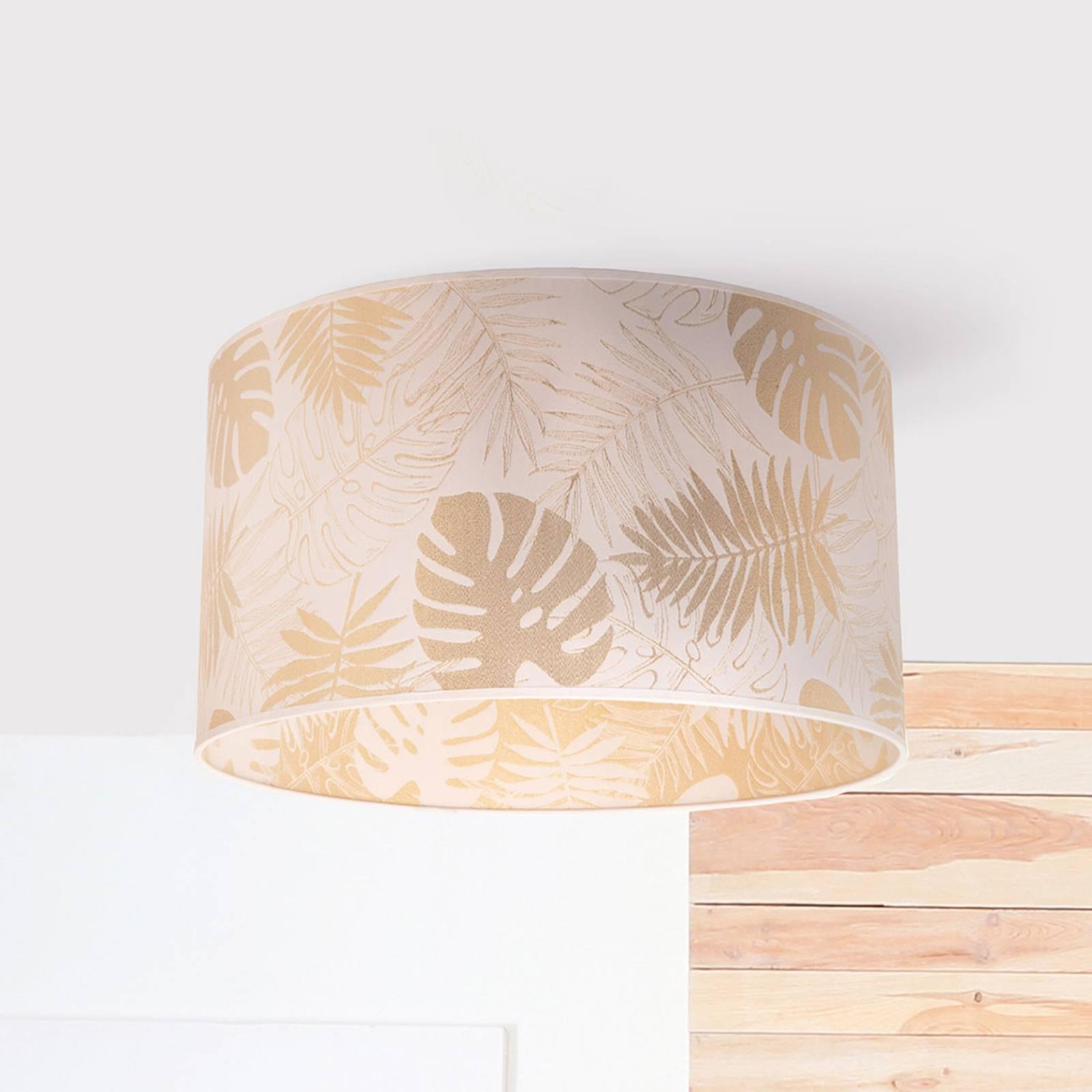 Deckenleuchte Areca mit Blattmuster, gold