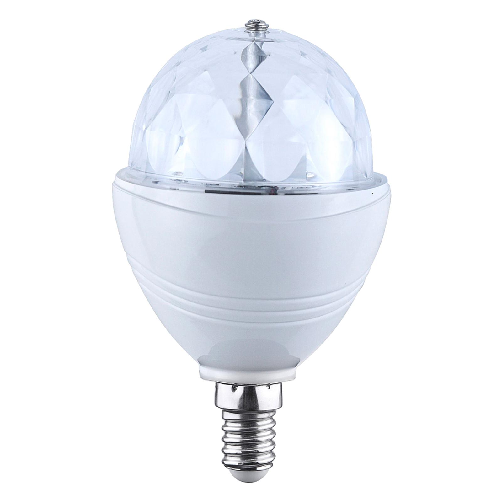 E27 3W RGB LED lampa Disco 120° | Lamp24.se