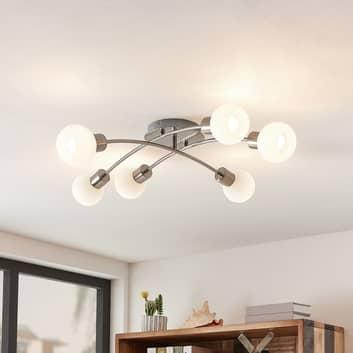 Lindby Agmar -LED-kattovalaisin nikkeliä, 6-lamp.