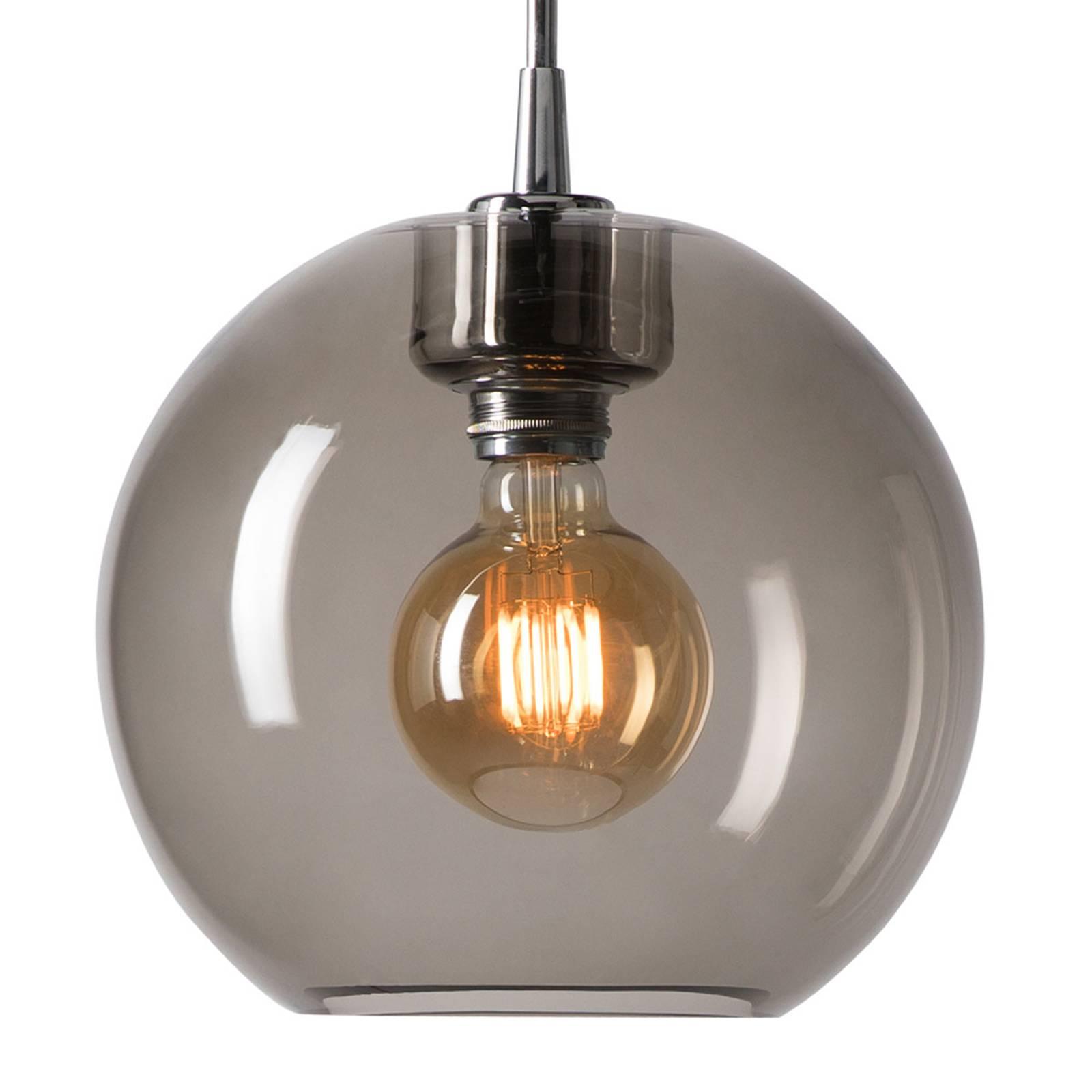Hanglamp Gloria chroom/rookglas Ø 26 cm