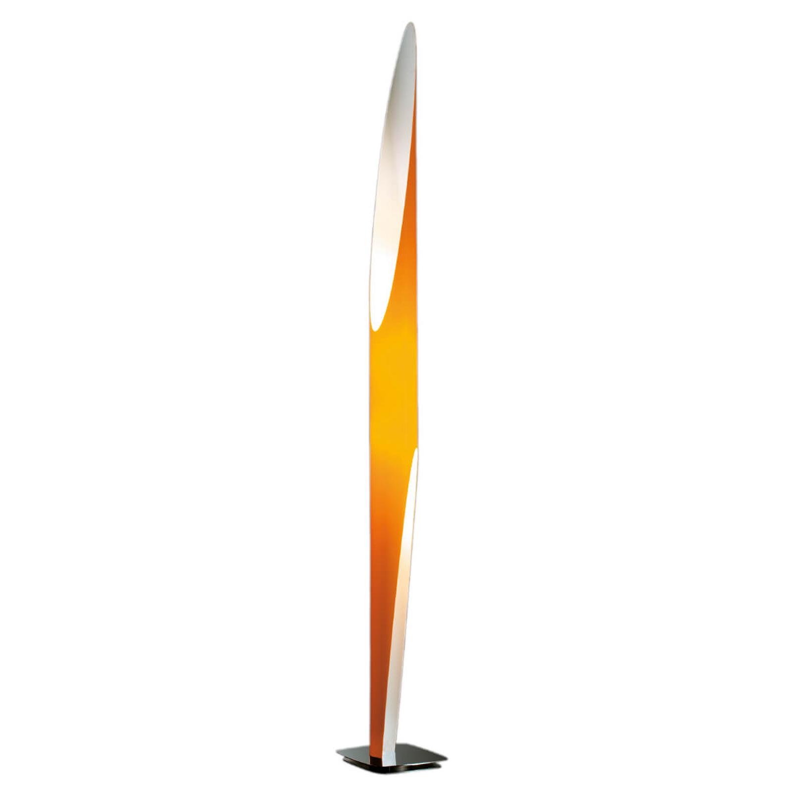 Efektowna lampa stojąca Shakti pomarańczowa