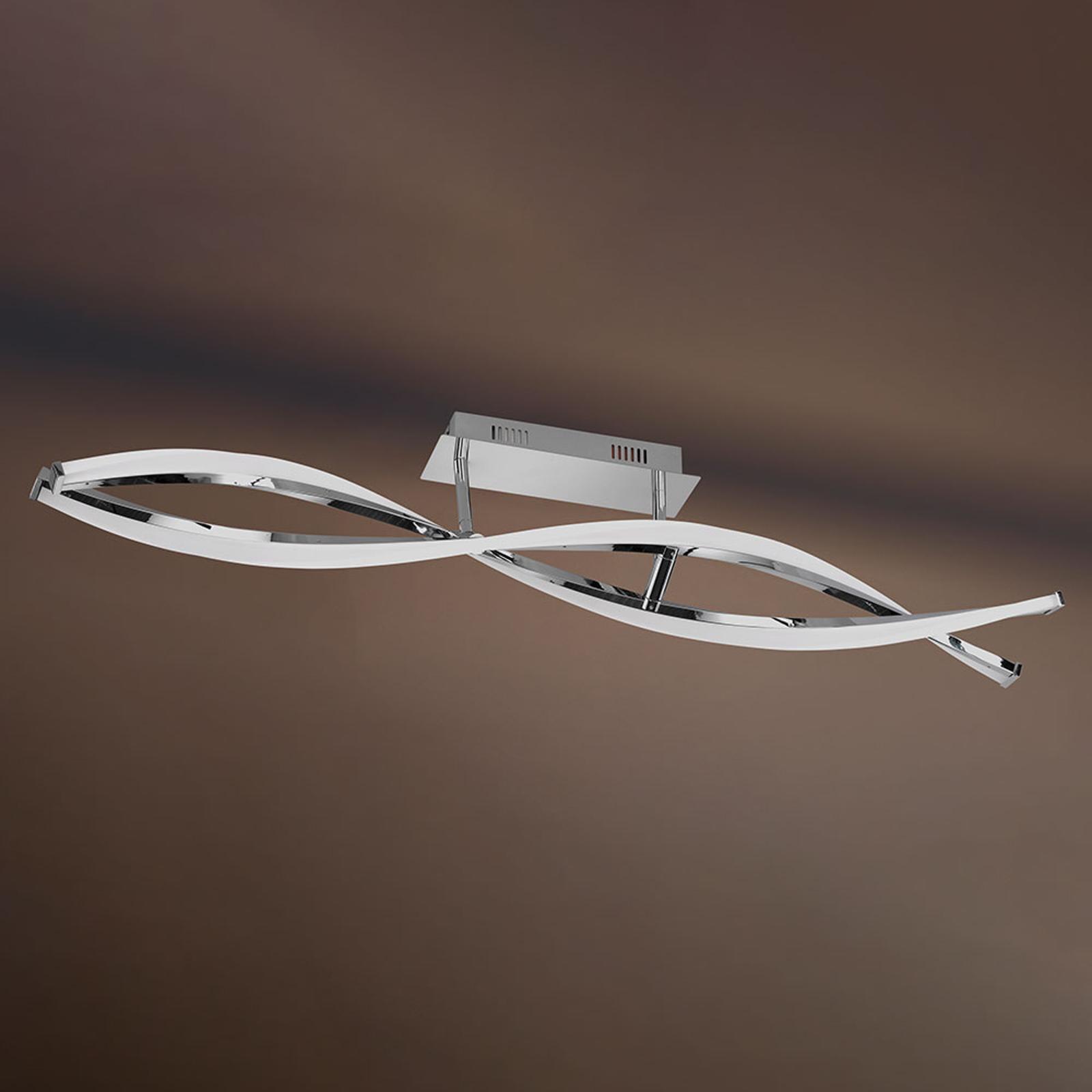 Lampa sufitowa LED idana w zamaszystej stylistyce