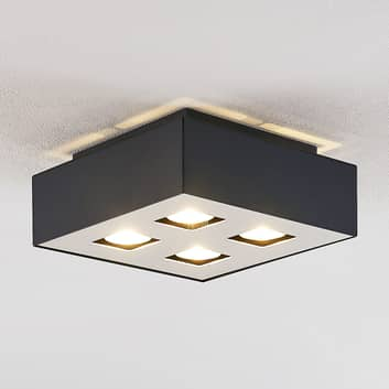 Lindby Kasi plafonnier à 4 lampes, 24 x 24 cm