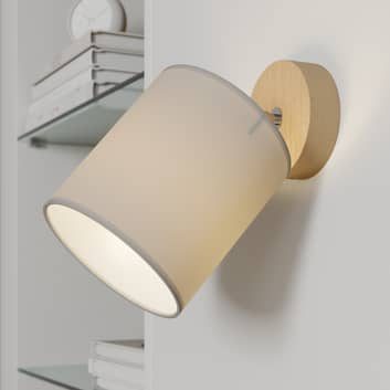 Väggspot Corralee, grå, 1 lampa