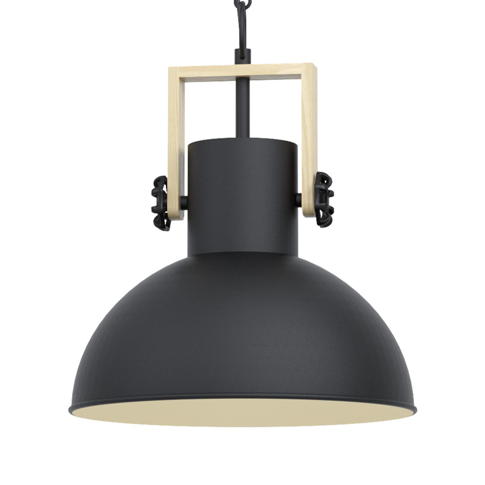 Lampa wisząca Lubenham z metalowym kloszem