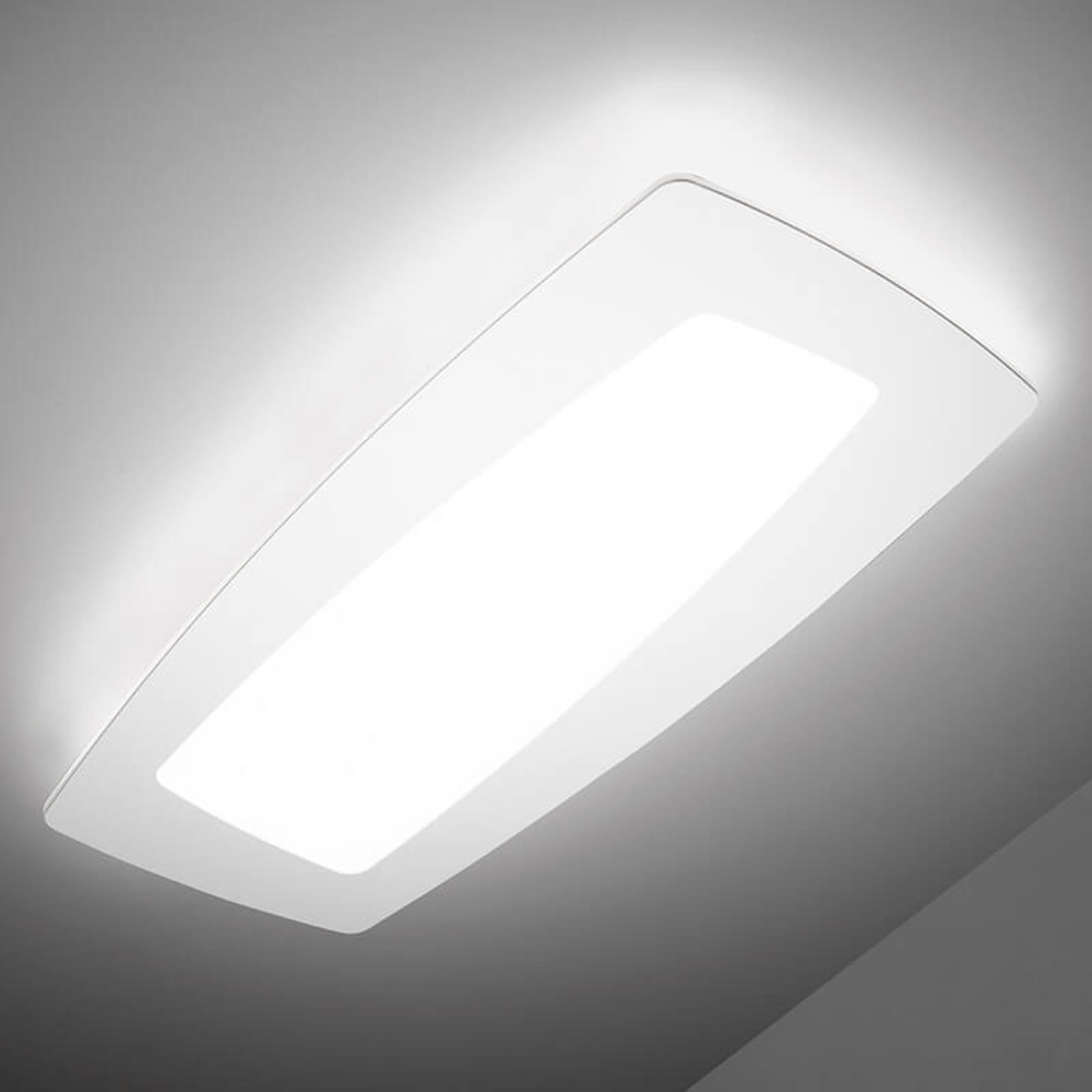 Witte LED plafondlamp Debra Rettangolo 65 cm