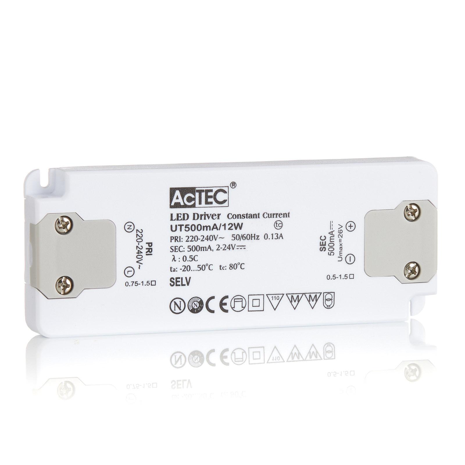 AcTEC Slim LED-Treiber CC 500mA, 12W