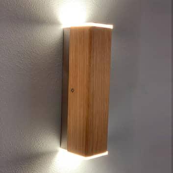 HerzBlut Leonora LED-væglampe massivt træ, up&down