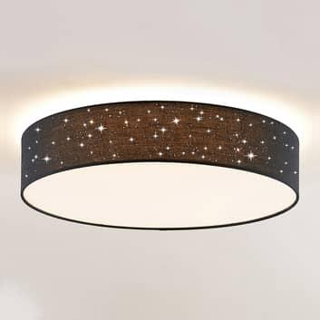 Lindby Ellamina LED plafondlamp, 60 cm, zwart