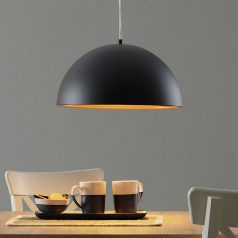 Dvoubarevné závěsné světlo Dingle, černo-zlatá