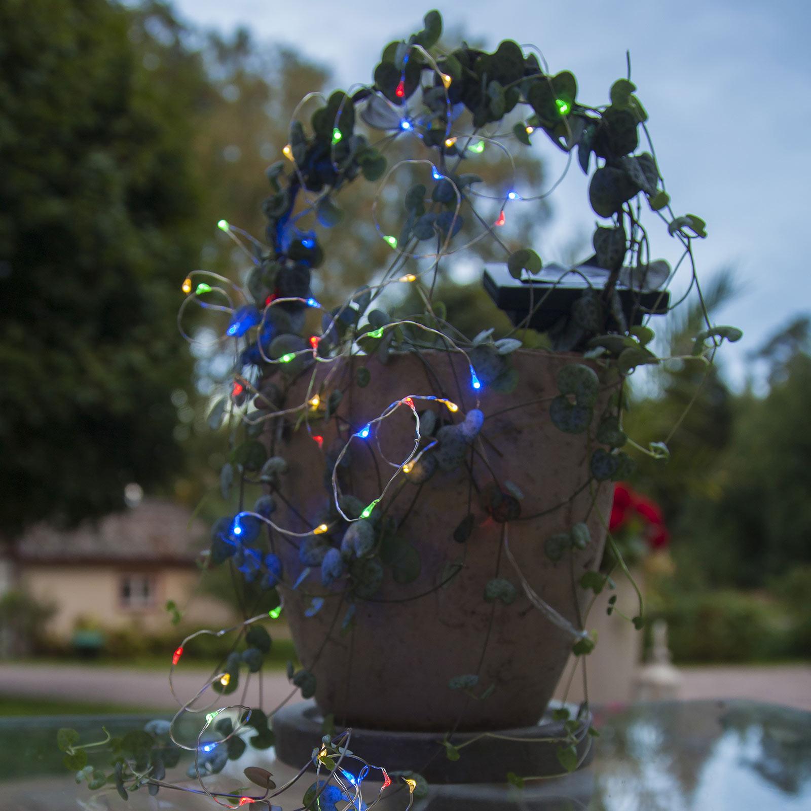 Łańcuch solarny LED Dew Drop, multicolor