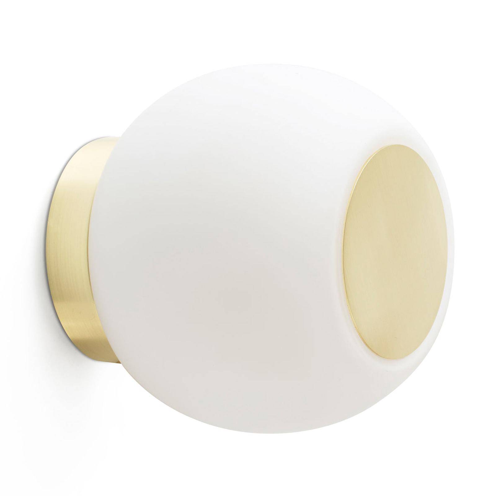 LED wandlamp Moy in goud met glazen kap