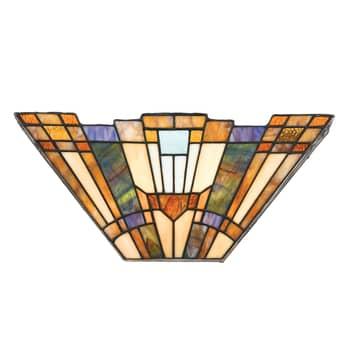 Nástěnné světlo Inglenook s barevným sklem