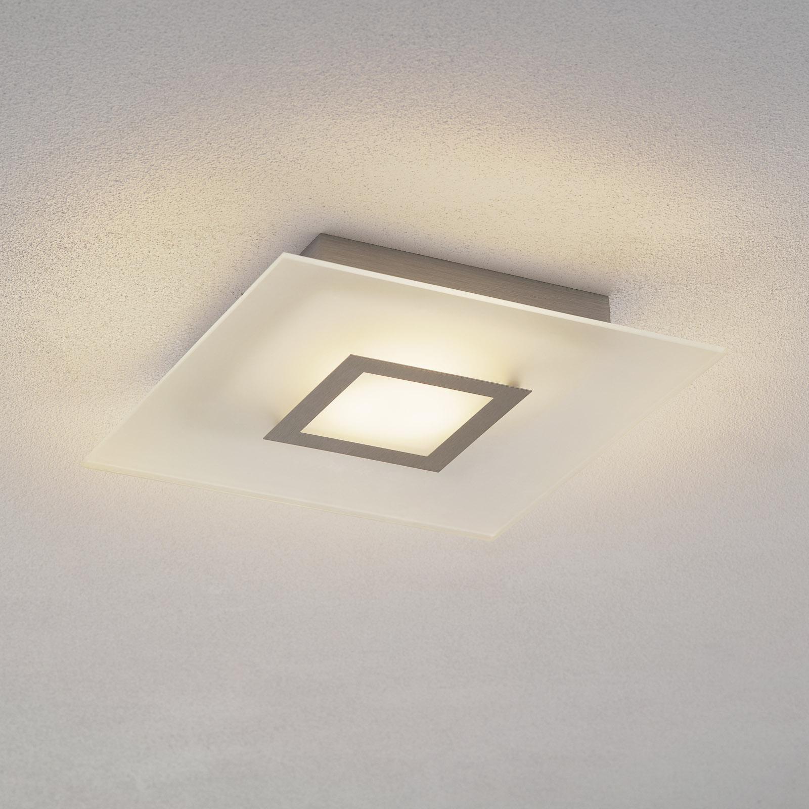 Flat - kvadratisk LED-loftslampe, dæmpbar