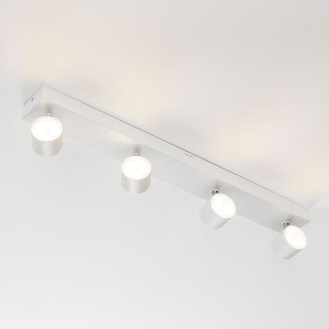 Foco LED de techo Star 4 brazos, blanco, warmglow
