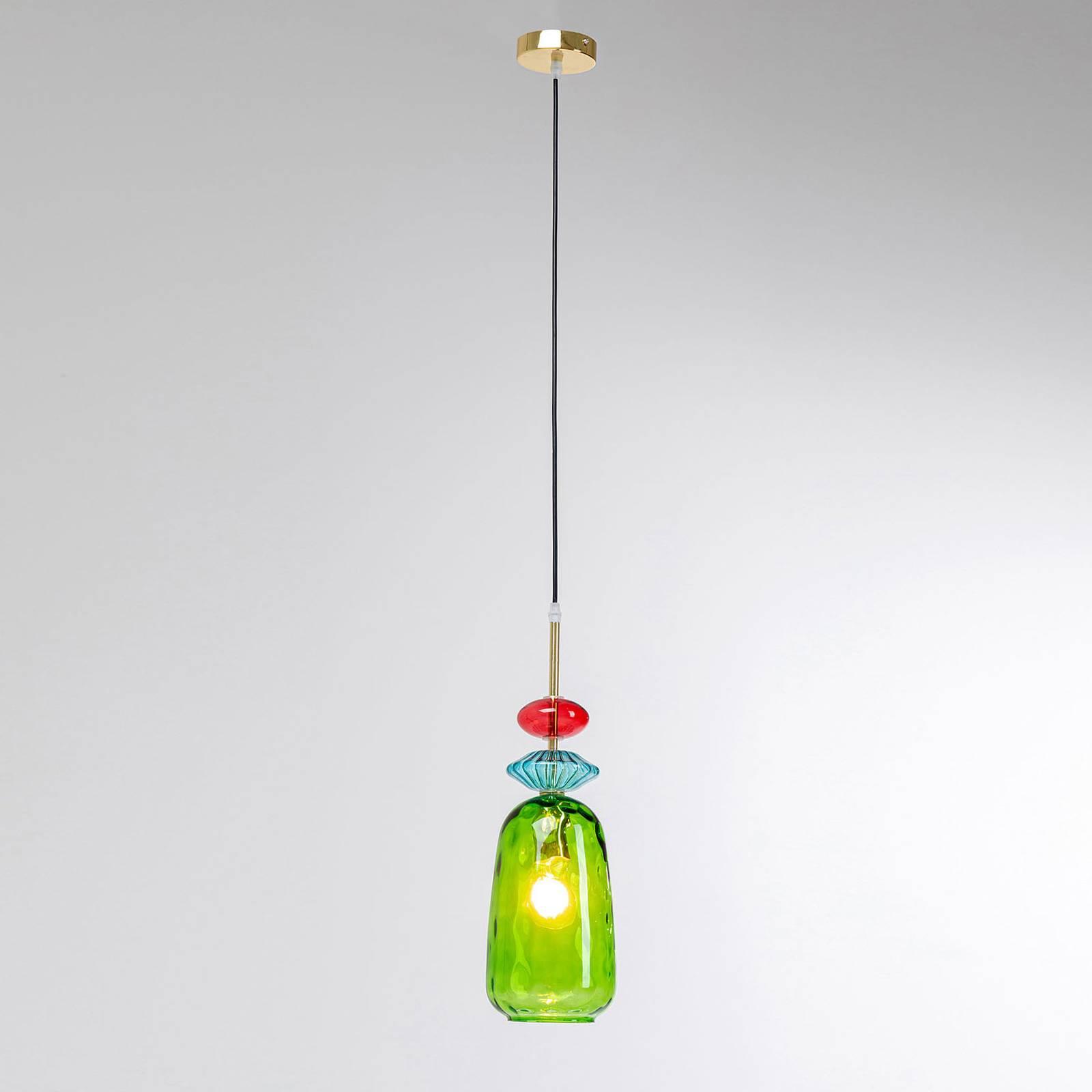 KARE Goblet Colore lampa wisząca ze szkła, zielona