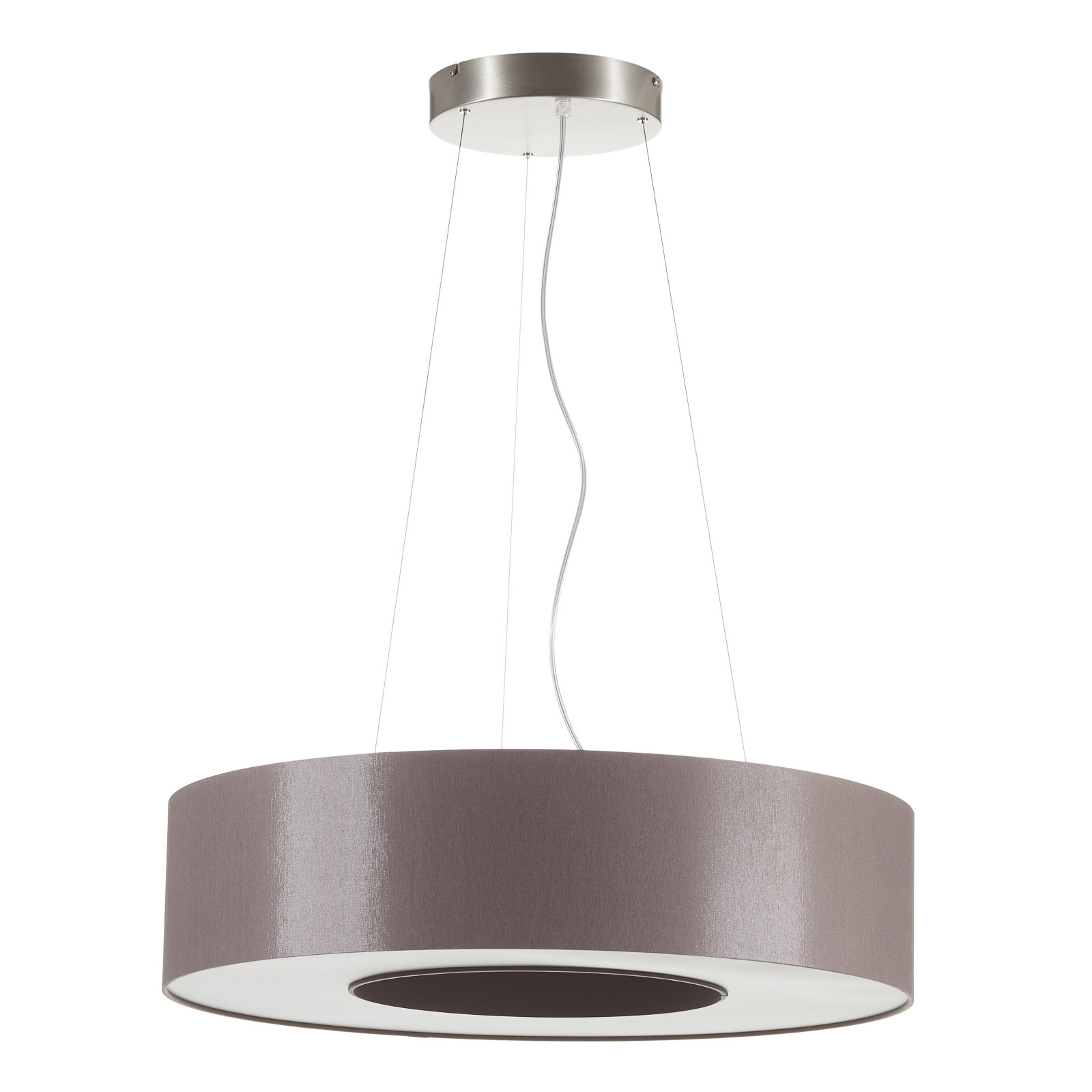 Suspension LED Donut dimmable 22 W taupe