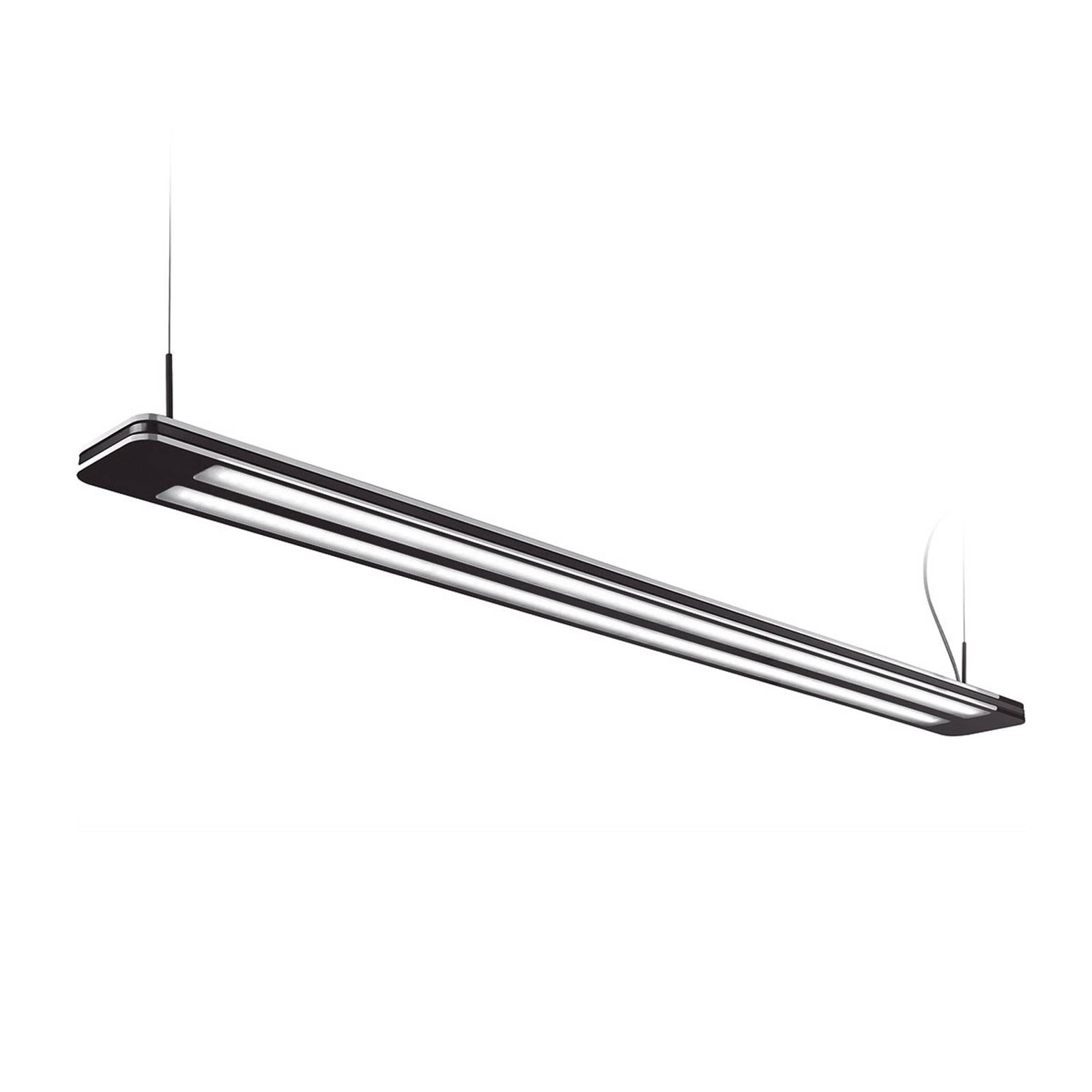 LED hanglamp Trentino II, 83 W, zwart