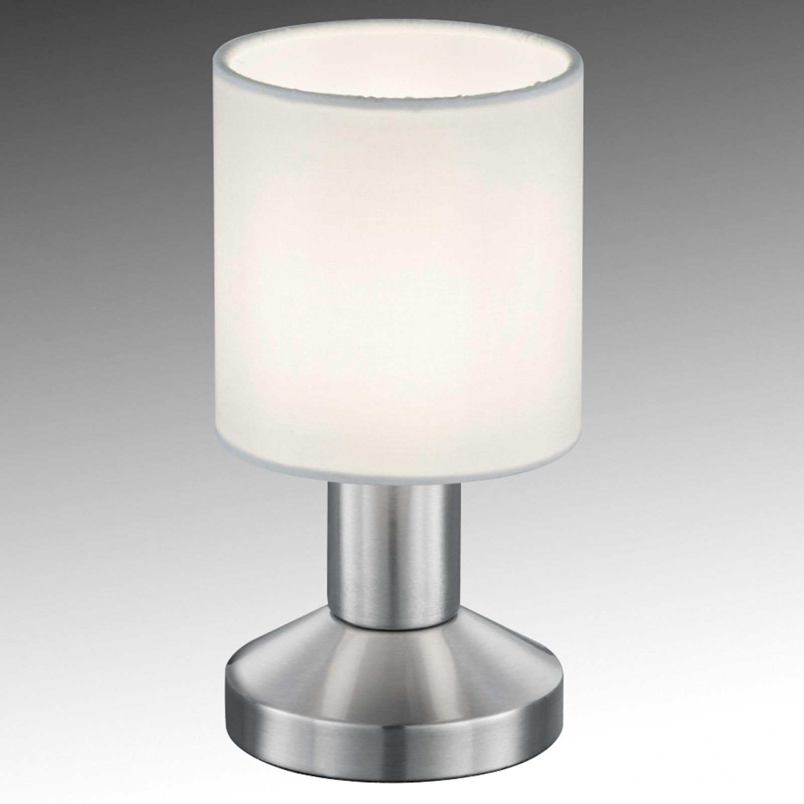 Lampe à poser Garda avec un abat-jour tissu blanc
