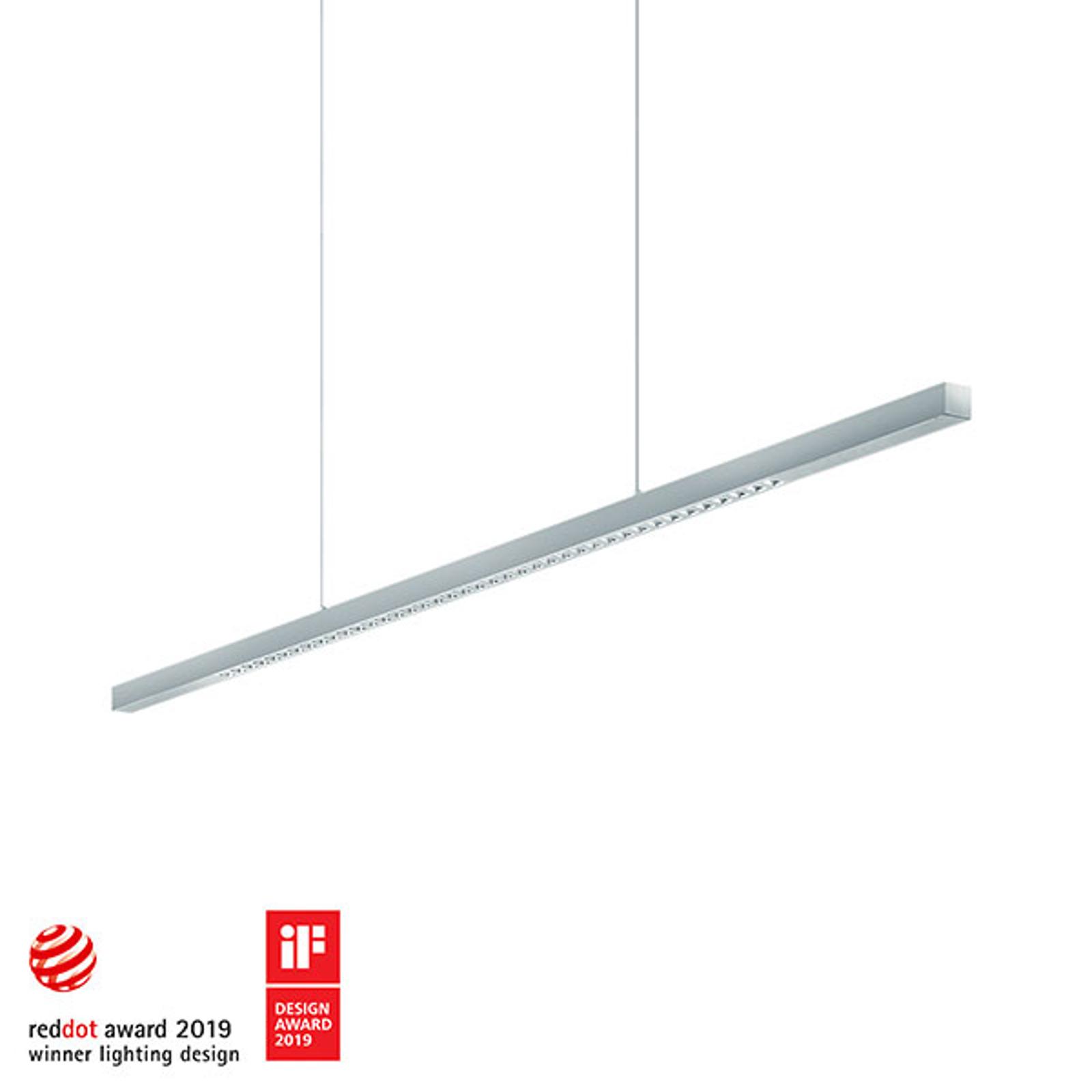 Zumtobel Linetik LED-Hängeleuchte silber 3.000K