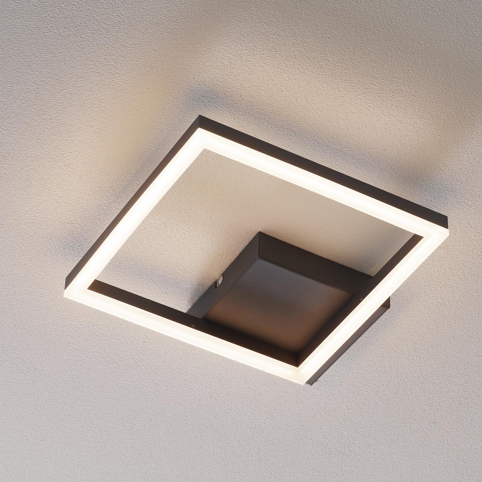 Bard LED-taklampe, 27x27 cm, antrasitt