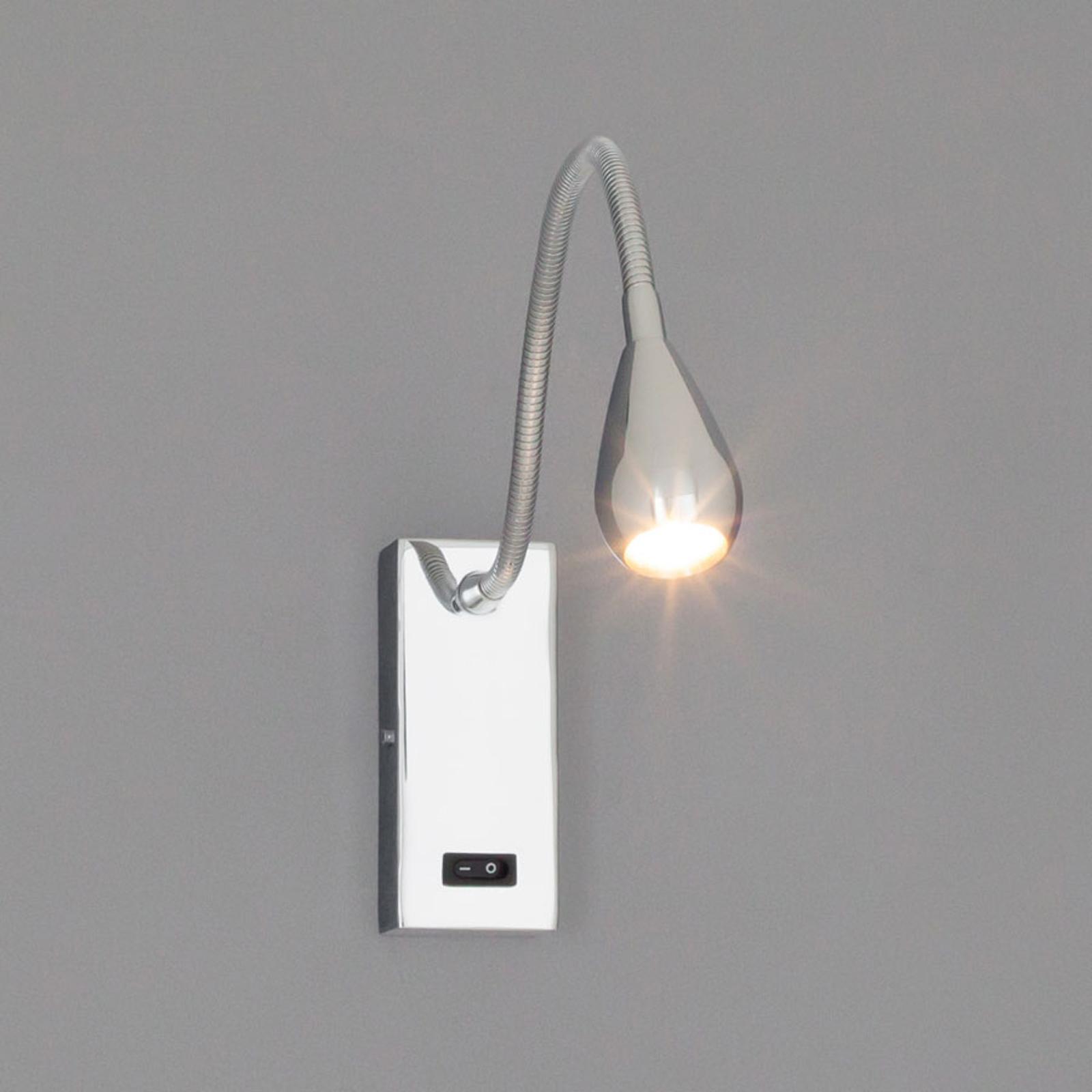 LED-vegglampe Rasmus i krom