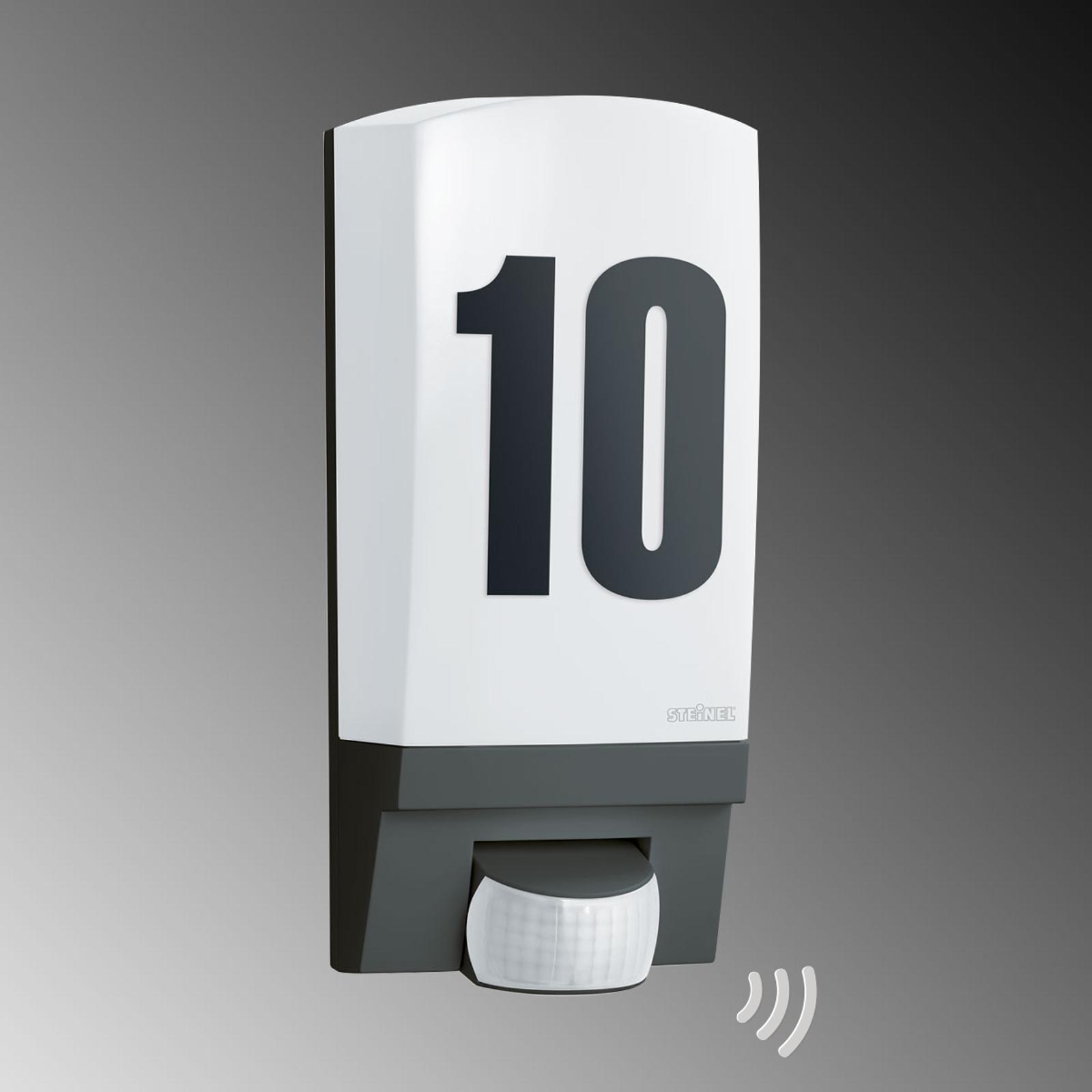 Svart L 1 STEINEL sensor- og husnummerlampe