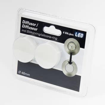 3er Set LED-Einbaustrahler Nikas IP44