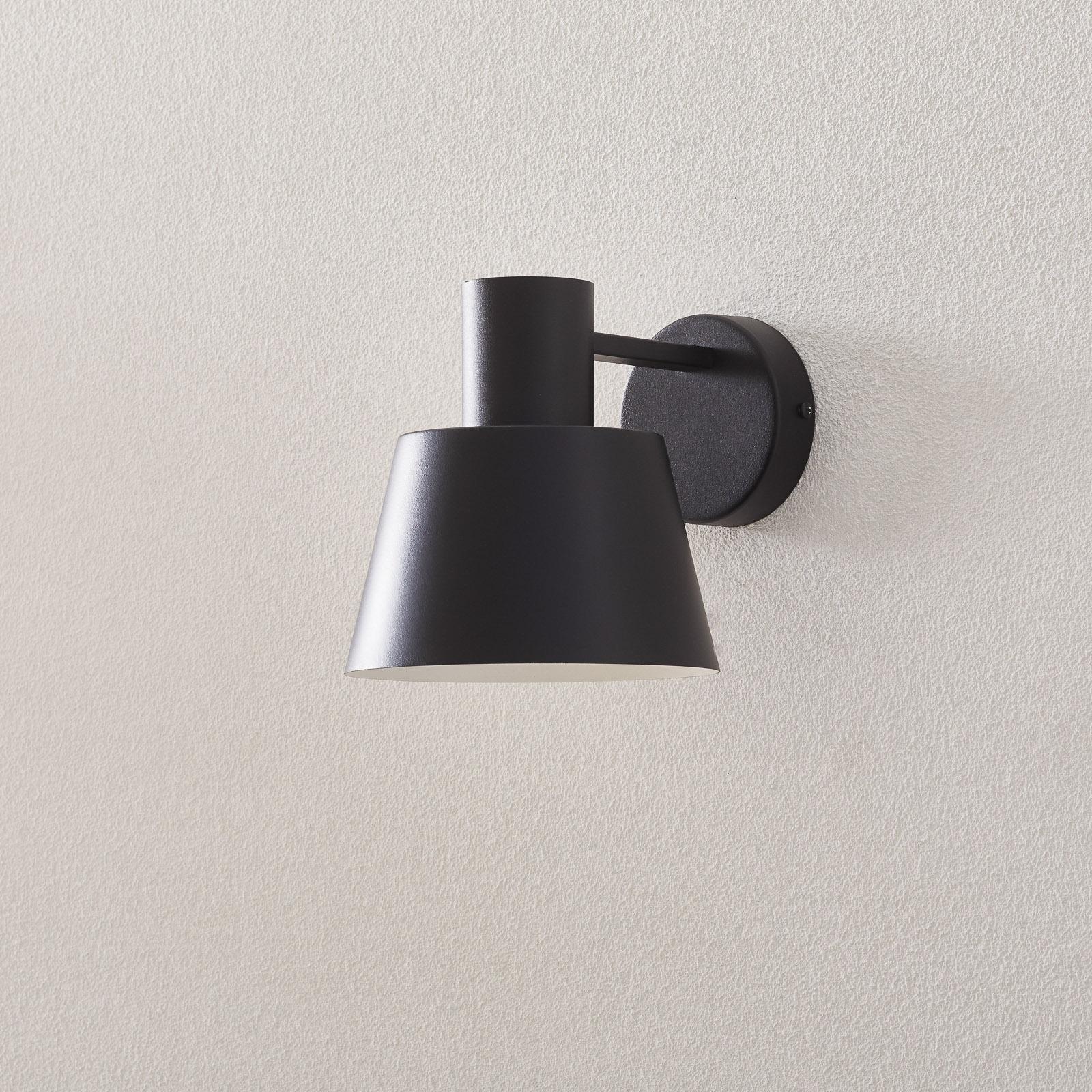Wandlamp Dunka van metaal, 1-lamp, zwart