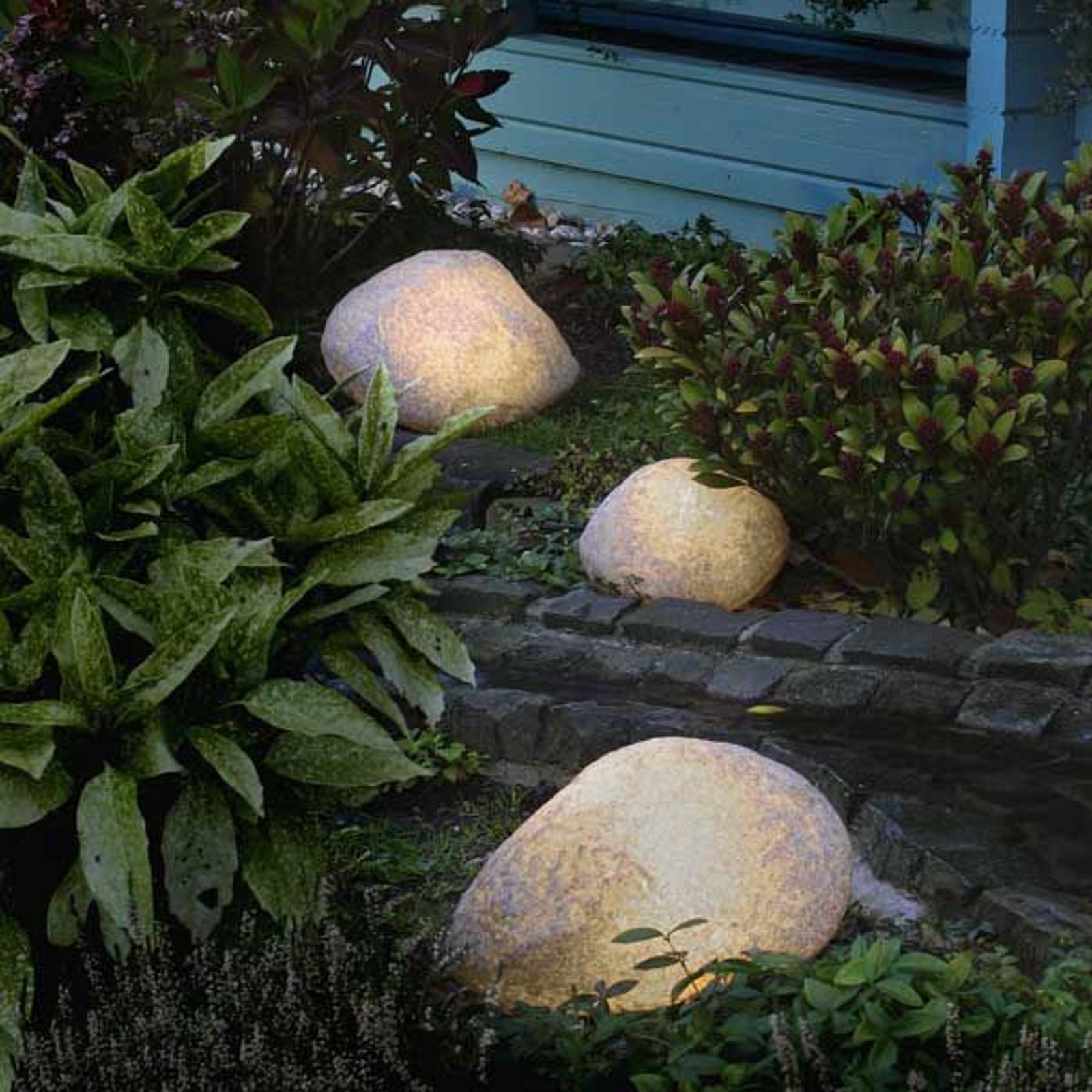 Svítící kameny s gumovou přípojkou žula 27 cm