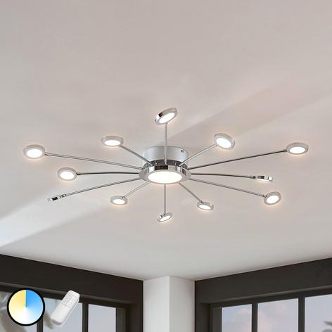 Stor, lyssterk LED-taklampe Meru med fjernkontroll