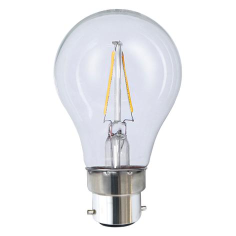 B22 2W 827 LED-lampa
