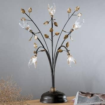 Millefoglie bordlampe i florentinsk stil, 5 lkld