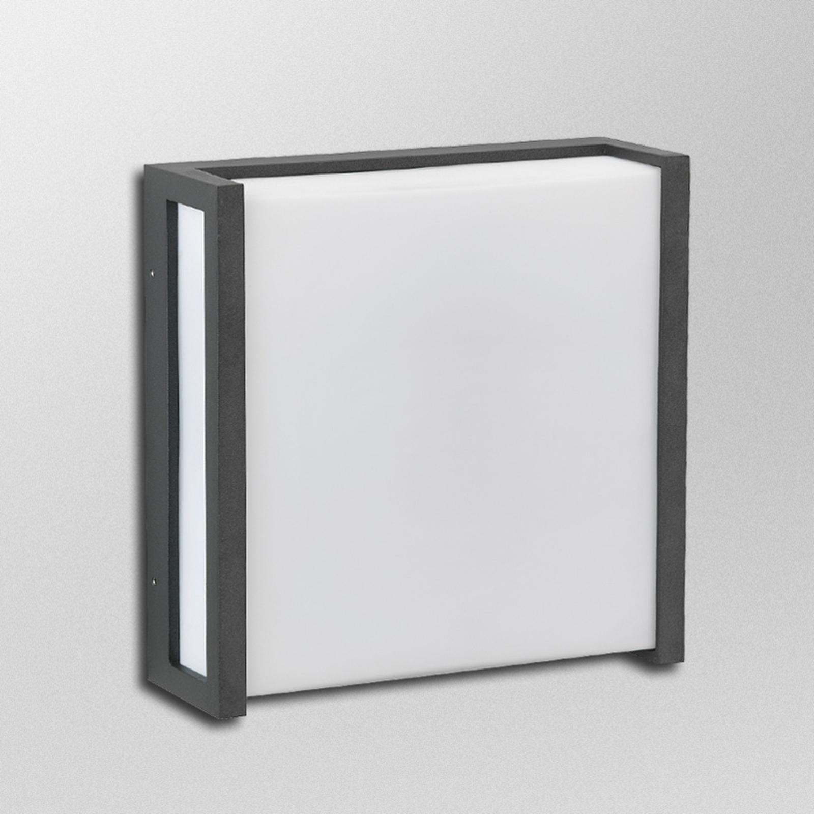 Quadratische LED-Außenwandleuchte Temir