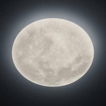 LED-loftlampe Lunar med fjernbetjening