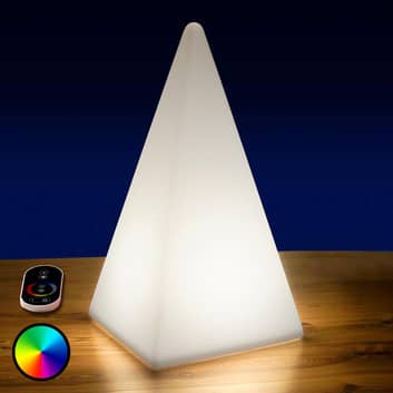 Akkukäyttöinen RGB-LED-pyramidi, ulkokäyttöön