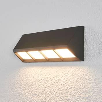 Aplique LED de exterior Cedrick en gris oscuro