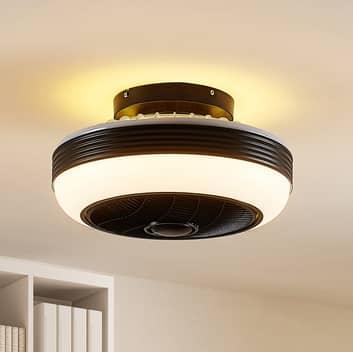 Lindby Pavel LED-loftventilator, sort