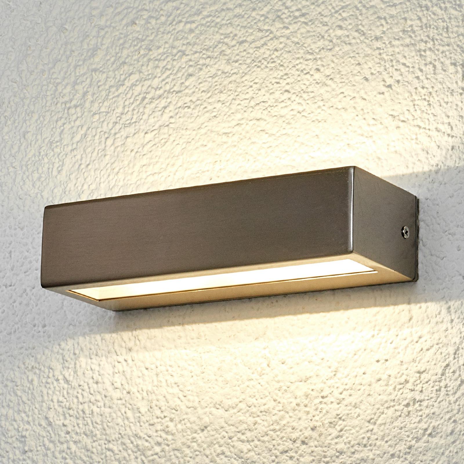 Patrica - geradlinige LED-Edelstahl-Außenleuchte