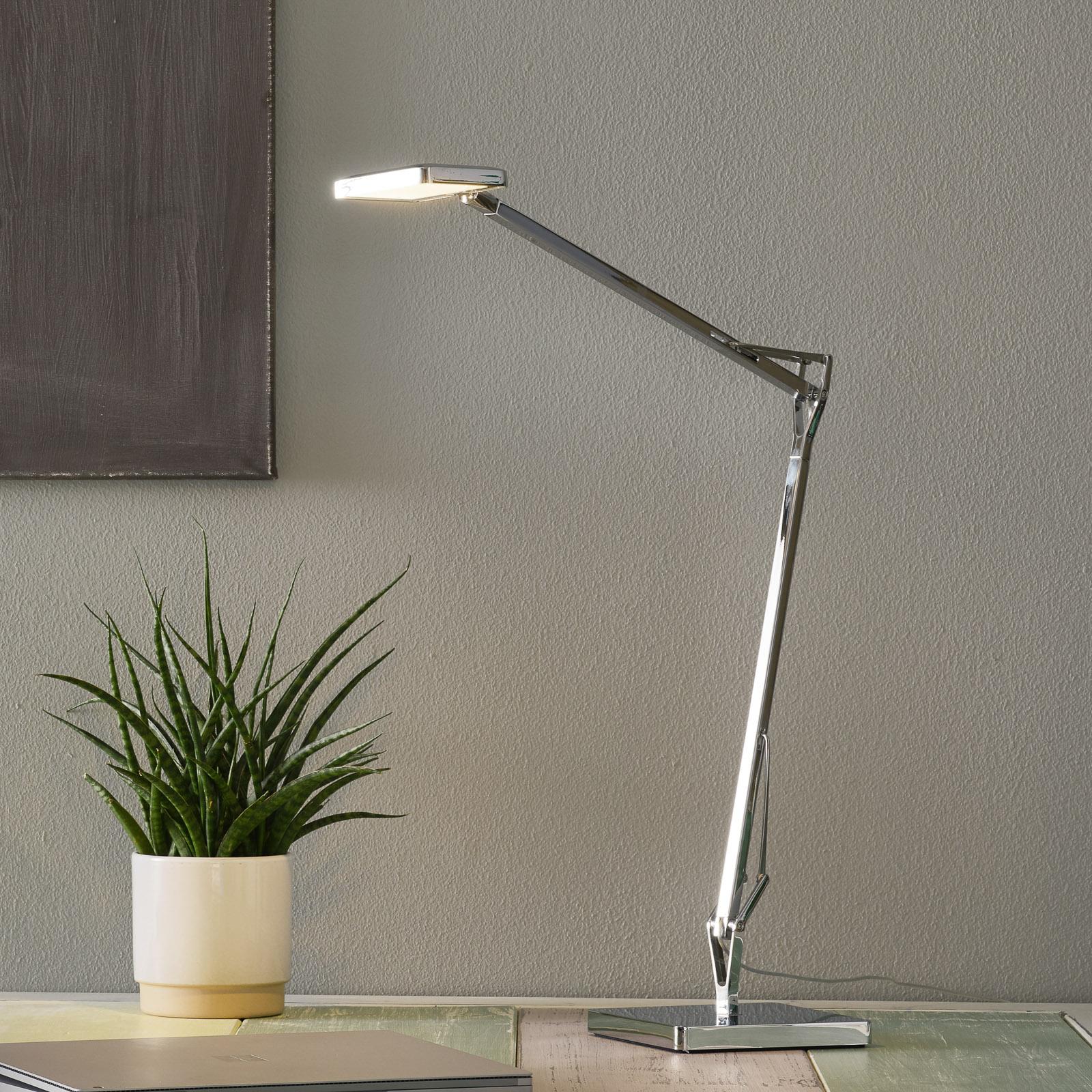 Lampe à poser LED Kelvin Edge chromée