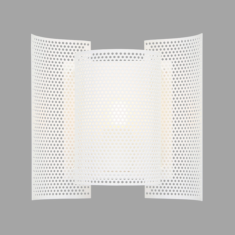 Northern Butterfly perforated wandlamp, wit