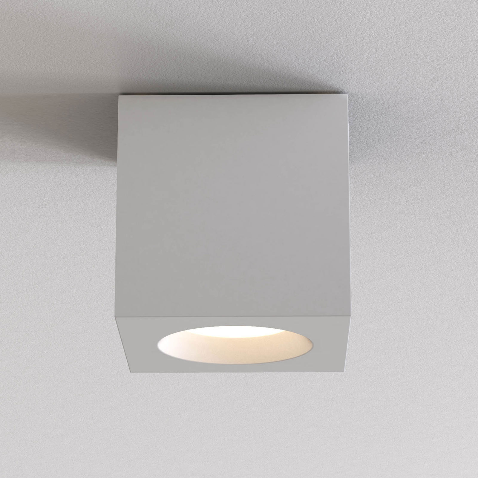 Astro Kos Square II taklampe, matt hvit