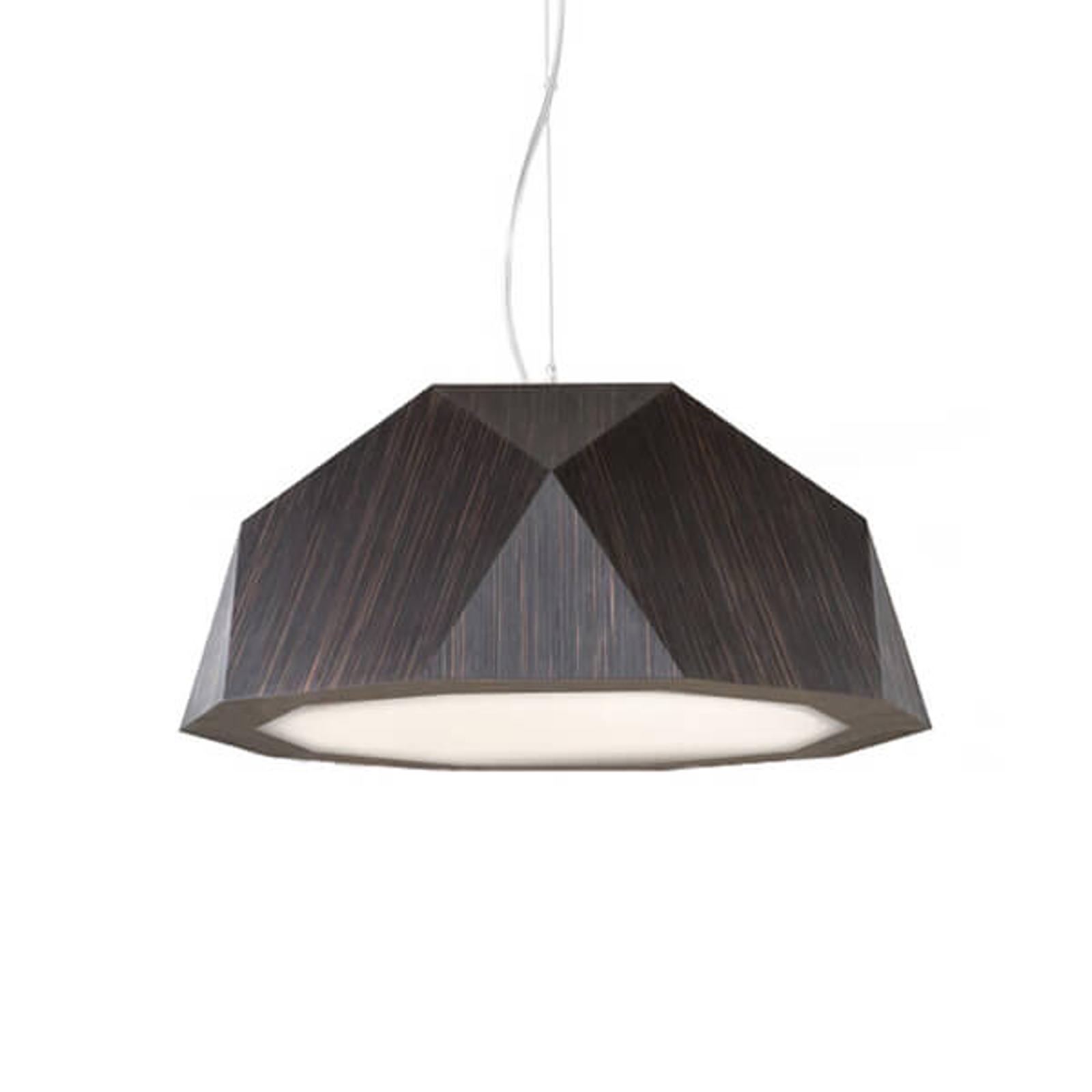 Lampa wisząca LED Crio, jak ciemne drewno