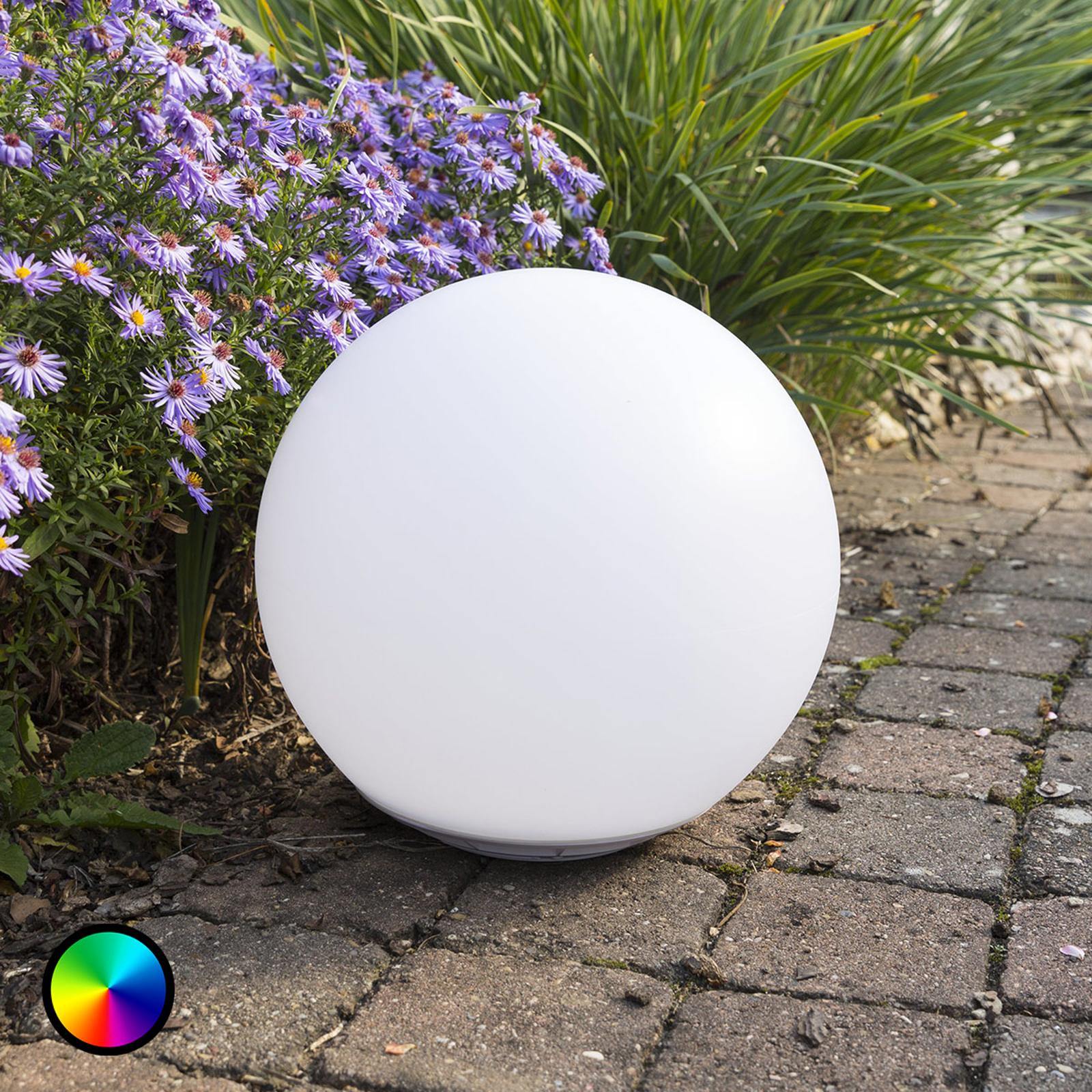 Flytende soldrevet LED-lyskule Globo