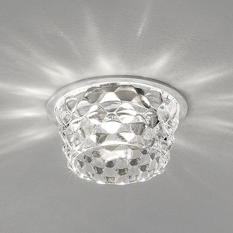 Glas LED loftindbygningslampe Fedora, klar